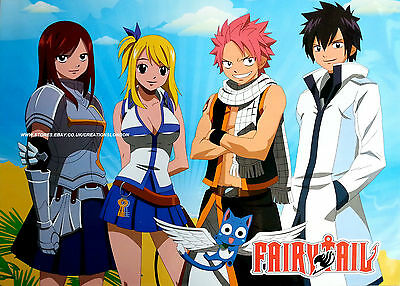"A2 25"" x 16""  Laminated Fairy Tail Guild Members Poster (FTLP10)"