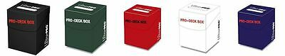 CHOOSE A COLOR - Ultra Pro  PRO Holds 100 Sleeved Card Deck Box w/ Card Divider