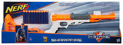 Nerf N-Strike Elite SharpFire + Stock + Barrel Extension + 10 Elite Darts