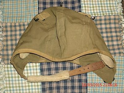 WWII Vintage Original  US Army Air Force Type A-9  Aviator Hat LARGE