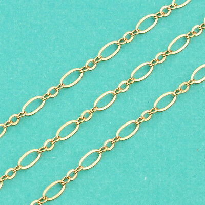 14k Gold Filled Bulk Chain 2.5mmx4.8mm Flat link By FT