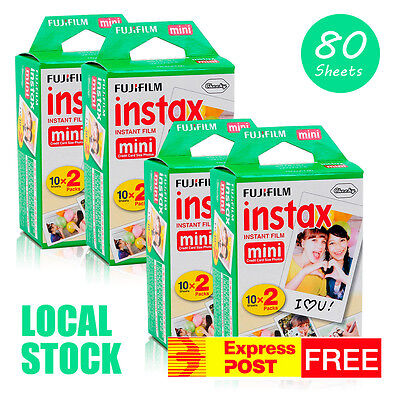 80 Sheets Fujifilm Instax Mini Film 100 Fuji instant photos 7s 8 90 Polaroid 300
