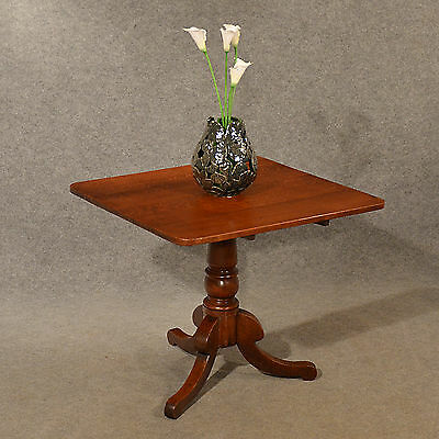 Antique Tripod Table Lamp Display Card Tilt Top English Oak Victorian c1850