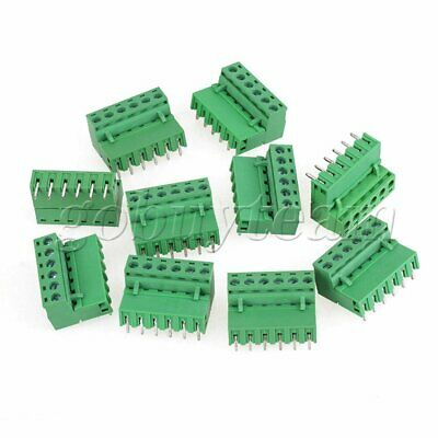 10 x 6Pin Plug-in Screw Terminal Block Barrier Connector 5.08mm Pitch Straight