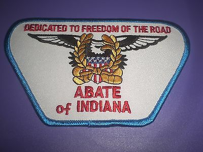 HARLEY ABATE OF INDIANA DEDICATED TO FREEDOM OF THE ROAD PATCH NEW EAGLE