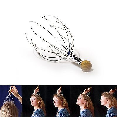 2Pcs Neck Head Scalp Massager Claw Stress Anxiety Tension Relax Relief Tool Kit