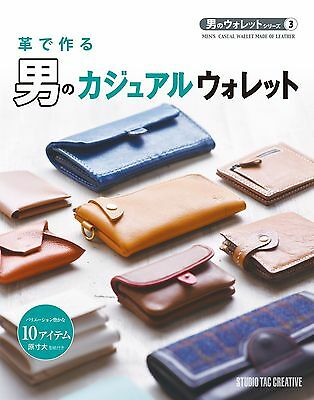 Leathercraft Book Bilfolds MEN'S CASUAL WALLET MADE OF LEATHER Leathercrafting
