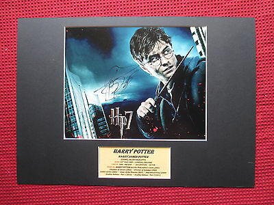 Harry Potter- Daniel Radcliffe Genuine Hand Signed A3 Mounted Photo Display-Coa