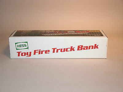 Hess 1986 Fire Truck Bank  Mint In The Box