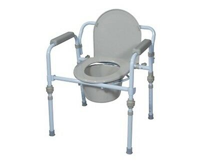 Deluxe Steel Folding Frame Commode Seat