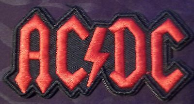 Ac/dc Patch Heavy Metal Embroidered Patch Biker Crust Punk Bon Scott Angus Young