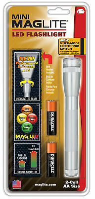 Mini Maglite 2 AA LED Next Generation Flashlight Silver SP2210H