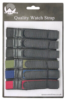 6 x Wholesale Job Lot Mens TA 18mm Nylon Band Colour Watch Strap