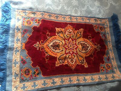 Beautiful Vintage Hand-Embroidered Woolen Tapestry