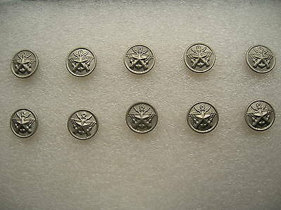 07's China PLA Reserve Army,Navy,Air Force General Metal Buttons,10 Pcs,15mm