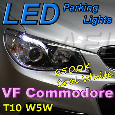 White T10 W5W Canbus LED Bulbs to suit Holden VF Commodore & HSV Parking Lights
