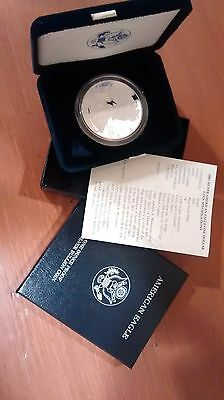 2001 W American Eagle One Ounce PROOF Silver Dollar coin blue box from US Mint