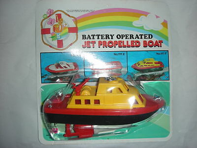 1982 BOAT Made in Hong Kong Winning plastic Jet Propelled Vintage MINT NEW