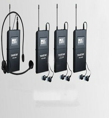 Takstar WTG-500 UHF Tour Guide Wireless System 1 Transmitter w/3 Receivers 100m