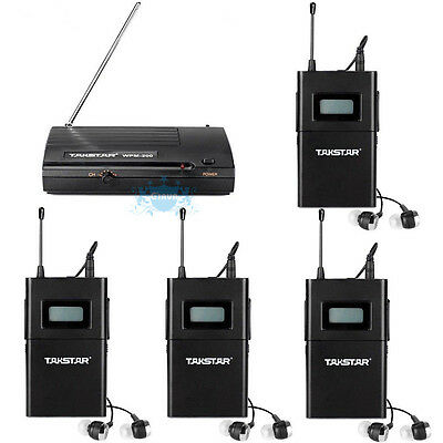 Takstar WPM200 UHF Wireless InEar Stage Wireless Monitor System In-Ear Headphone