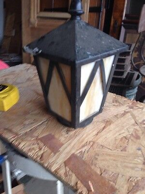 Lt 3 Antique Stained Glass 5 Inch Squarex 9.5 Tall Lantern Shade