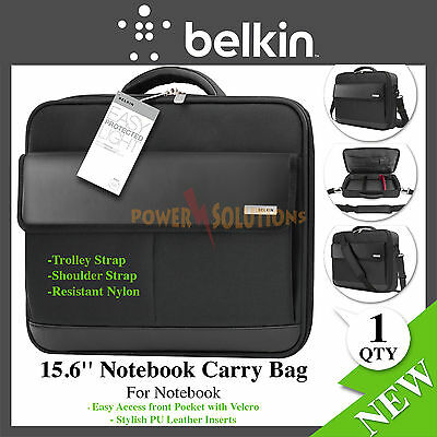 """Belkin 15.6"""" Clamshell Business Carry Case for laptop / Notebooks Black NEW"""