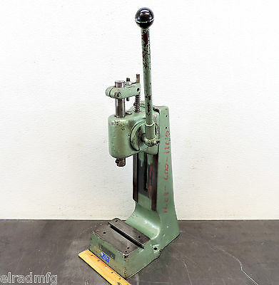 """Schmidt Manual Press Rack And Pinion Bench Press 2"""" Stroke Used"""
