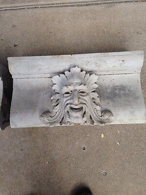 "Antique Terra-Cotta Face 21"" X 11"" X 6"""