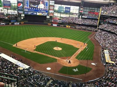 1 Chicago Cubs @ Milwaukee Brewers May 8, 2015 Friday Ticket 5/8/15 Sec 423