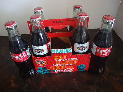 Super Bowl XXXII---Coca-Cola---6-Pack With Carton---8 Oz. Bottles---All Full