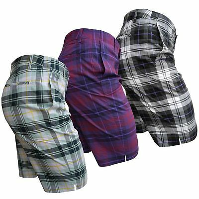 63% OFF Ian Poulter IJP Design Tartan Mens Stretch Check Performance Golf Shorts