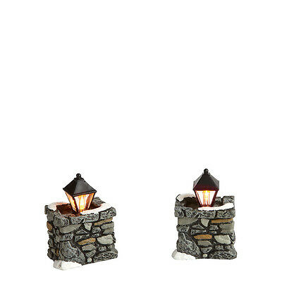 Dept 56 Limestone Lamps Set of 2 Lights NEW 4020257 D56 Christmas Village
