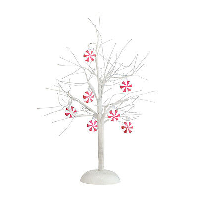 Dept 56 PEPPERMINT LIT BARE BRANCH TREE 4025369 D56 NEW Christmas Village