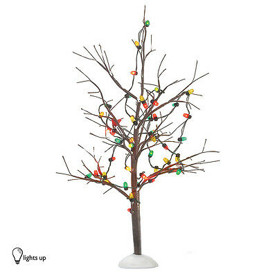 Dept 56 LIGHTED CHRISTMAS BARE BRANCH TREE 53193 D56 NEW Village