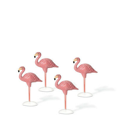Dept 56 VILLAGE FLAMINGOS Set of 4 810818  D56 NEW Christmas Accessory