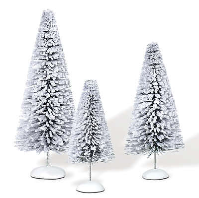 Dept 56 Snow Laden Sisals Set of 3 Tree Accessories NEW 810836 Christmas Village