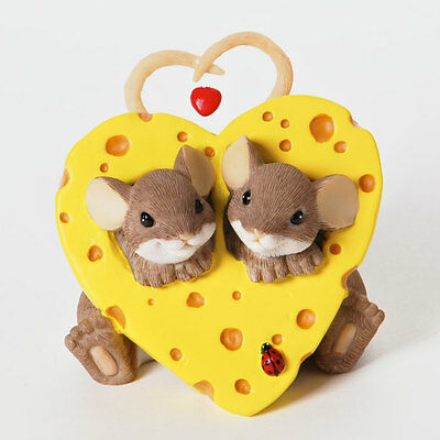 Charming Tails Our Own Little Slice of Love Christmas Ornament NEW 4025754 Mice