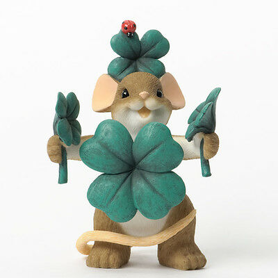 Charming Tails Feelin' So Lucky Irish Mouse figure 4035256 Shamrock St Patricks