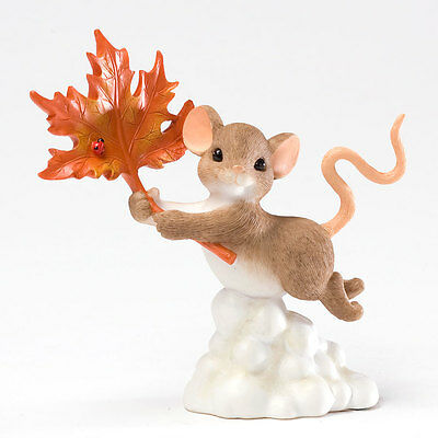 Charming Tails You Blow Me Away Maple Leaf Mouse Figurine 4027684 Autumn NEW