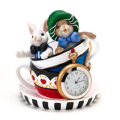 Charming Tails I'm Mad About You clock Figure NEW 4020773 Alice in Wonderland
