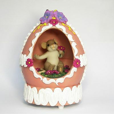 Charming Tails You're Egg-ceptionally Sweet Easter Mouse Figure 4020481 NEW NIB