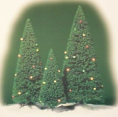 Dept 56 Village Twinkling Lit Trees Light Green D56 NEW Christmas Village 52823