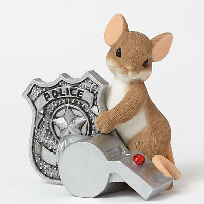 Charming Tails Police Officer Mouse Figure NEW 4042544 Cop Law Enforcement