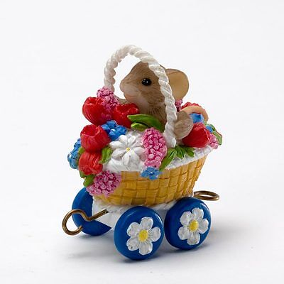 Charming Tails Spring Blossom Express Middle Car 4020487 Mouse NEW Enesco NIB