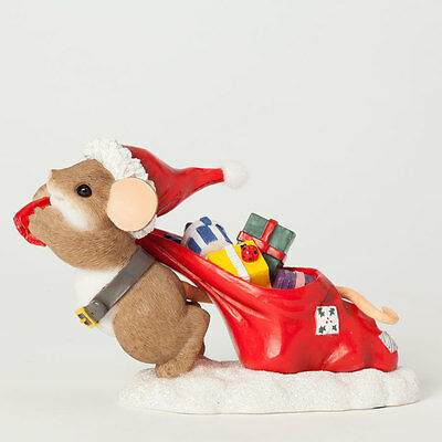 Charming Tails Santa Mouse & Bag of Gifts Figure NEW 4041189 Christmas