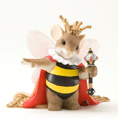 Charming Tails Queen Bee Figure NEW 4025769 Bumblebee Mouse