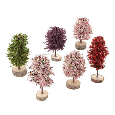 Dept 56 Springtime Promo Trees Set of 6 4026569 D56 NEW Christmas Village