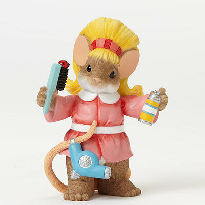 Charming Tails Hair Stylist Salon Mouse Figure NEW 4042547 Profession