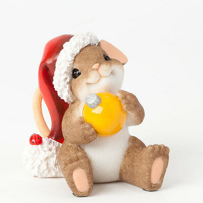 Charming Tails Sitting Pretty for Christmas Mouse Figure NEW 4041187