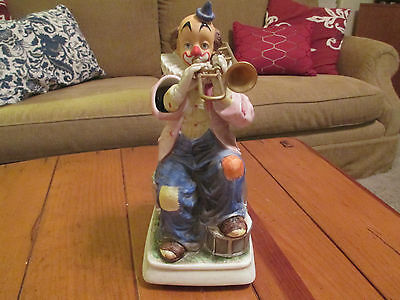 """Melody in Motion Vintage Porcelain Willie the Clown w/ Trumpet """"The Music Works"""""""